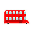 double-decker cartoon style london bus isolated vector image