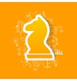 drawing business formulas chess vector image