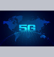 global 5g technology digital network background vector image vector image