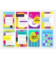 Hand Drawn Templates Design Set of Web Mail vector image