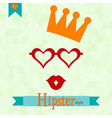 Hipster greeting card vector image vector image