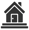 House Front Door Flat Icon vector image vector image