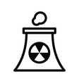 icon atomic power station vector image vector image
