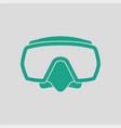 icon of scuba mask vector image vector image