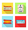 isolated object of ticket and admission icon vector image vector image
