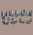isometric tailor a set mini concepts for tail vector image