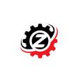 letter z gear logo design template vector image vector image