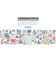 male microbiologist scientist research coronavirus vector image vector image
