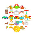 market icons set cartoon style vector image vector image