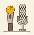 microphone icons in flat style vector image