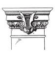modern doric pilaster capital doric vintage vector image vector image