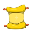 Ninja scroll icon cartoon style vector image vector image