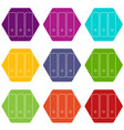 office folder icons set 9 vector image vector image
