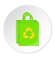 Package recycling icon cartoon style vector image vector image