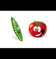 pea and tomato vector image vector image