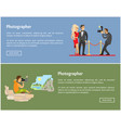 photographer and paparazzi internet banners set vector image