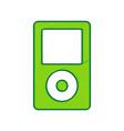 portable music device lemon scribble icon vector image