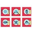 provide etiquette set flat vector image
