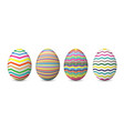 realistic set with painted and easter eggs vector image
