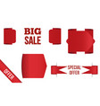 red banner big sale isolated on white background vector image vector image