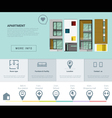 Residential banner and Infographic for web design vector image