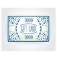 Retro gift card template vector image