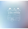 RV and caravan park template On nice blue vector image vector image