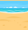 sand beach simple cartoon style background sea vector image