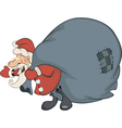 Santa Claus and a sack full of gifts vector image vector image