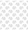 seamless black and white background from spirals vector image vector image