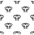 seamless heart pattern love symbol from icon vector image vector image