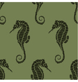 seamless pattern from seahorses vector image vector image
