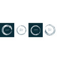 set abstract silver water rings vector image vector image