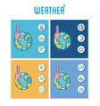 set of weather frames vector image