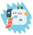 sewing machine icon cartoon vector image vector image