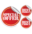 Special offer best product and best choice vector image