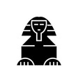 sphinx icon black sign on vector image