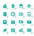 stylized phone performance business and office vector image vector image