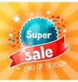 Super sale banner Advertising flyer for commerce vector image