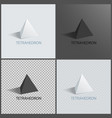 tetrahedrons figures prisms collection vector image vector image