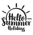 travel summer banner with inscription and sun vector image vector image