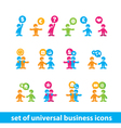 universal business icons vector image