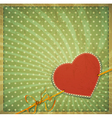 vintage valentines hearts background vector image