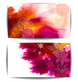 Watercolor Banners with Floral Design vector image vector image