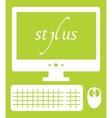 web development stylus vector image vector image
