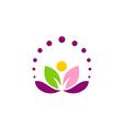 lotus flower abstract leaf yoga logo vector image