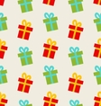 Seamless Pattern with Colorful Gift Boxes for vector image