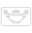 Vintage wedding invitation stamp vector image