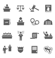 Set of law icons vector image