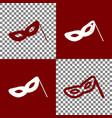 traditional venetian carnival decorative mask sign vector image